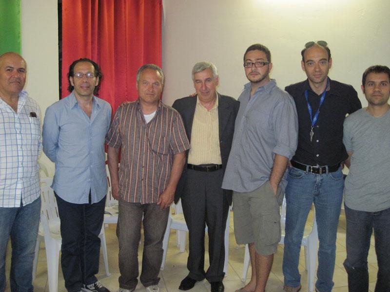 Il Pd di Martinsicuro con i consiglieri regionali Giuseppe Di Luca e Claudio Ruffini